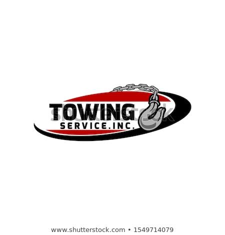 Vintage car tow truck emblems Stock photo © netkov1