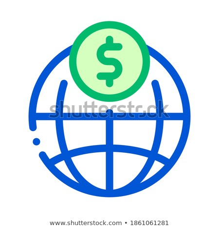 Világ fizetés érme átutalás vektor vékony Stock fotó © pikepicture