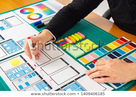 Business briefing concept landing page Stock photo © RAStudio