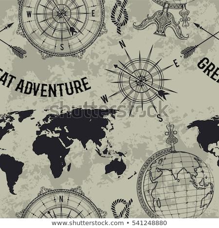 Viaje decoración mundo mapa geografía vector Foto stock © robuart