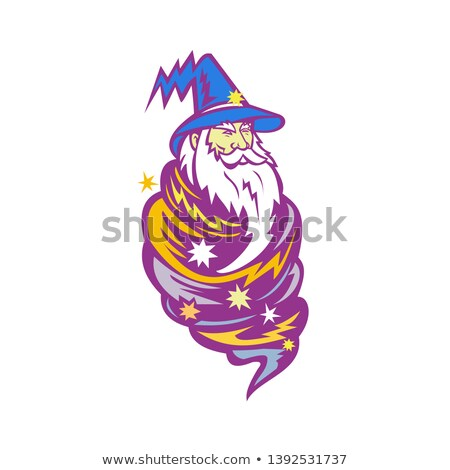 Wizard Tornado Mascot Stock photo © patrimonio