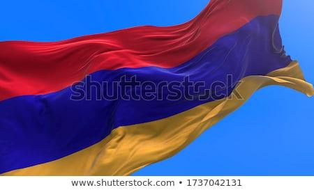 Bandeira Armênia elementos camadas Foto stock © nazlisart