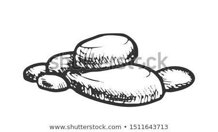 Stone Decorative Rock Stacked Pile Vintage Vector Stock photo © pikepicture