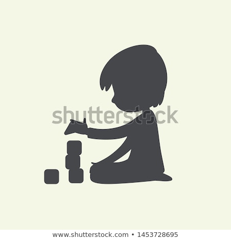 little boy playing with building kit at home Stock photo © dolgachov