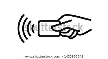 карт читатель иллюстрация смартфон вектора Сток-фото © toyotoyo