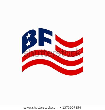 amerikan · metin · bayrak · ABD · grunge - stok fotoğraf © jeff_hobrath