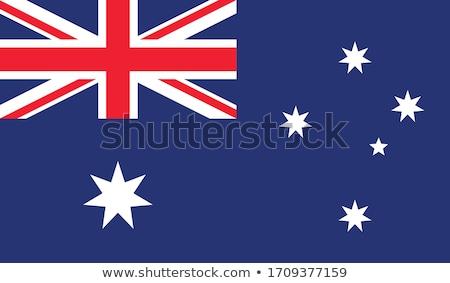 Australia flag, vector illustration on a white background. Stock photo © butenkow