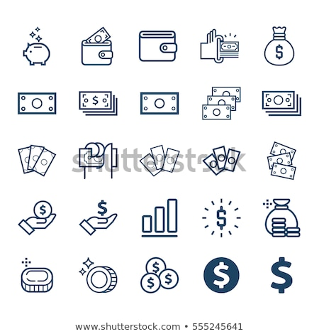 Money Dollars Case Icon Vector Outline Illustration Stock photo © pikepicture