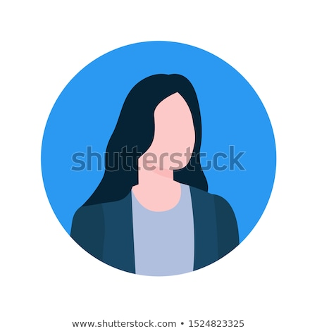 Kobiet online konsultant wykonawczej pracownika profil Zdjęcia stock © robuart
