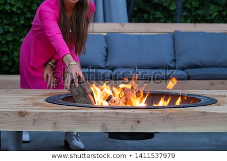 Summer fire pit Stock photo © jsnover
