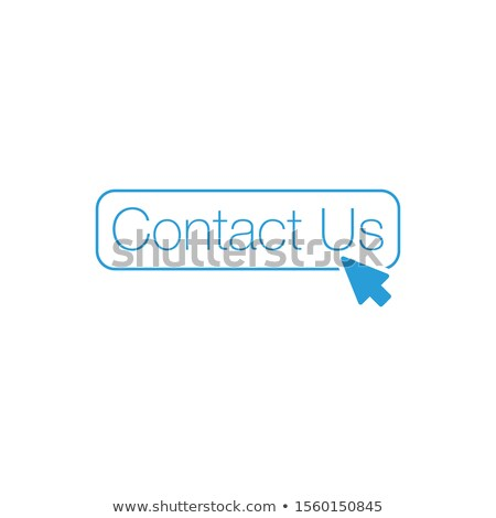 Contact us button with cursor mouse arrow, Can be used for web, ui, apps, Stock Vector illustration  Stock photo © kyryloff