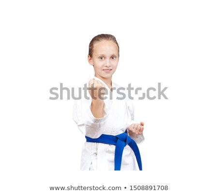 Blauw gordel permanente rack karate Stockfoto © Andreyfire