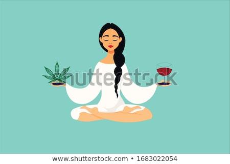 Ponto de interrogação erva daninha fumar ilustração rolar canabis Foto stock © lenm