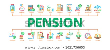 Pension Retirement Minimal Infographic Banner Vector Stock photo © pikepicture