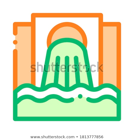 Waste Outpouring From Spout Vector Thin Line Icon Stock photo © pikepicture