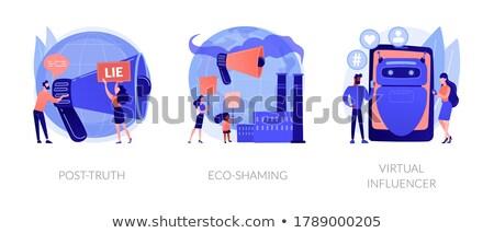 Ecology activists vector concept metaphor Stock photo © RAStudio