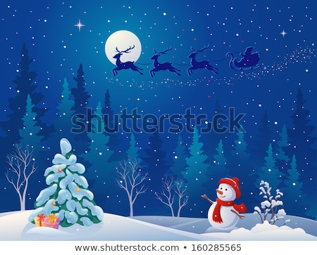 Papai noel rena mata natal Foto stock © robuart