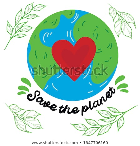 Happy Earth Day, protect our planet, eco, ecology, climate changes, Earth Day April 22, vector illus Stock photo © ikopylov