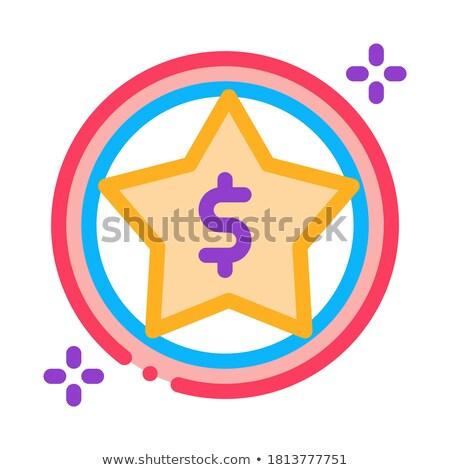 Dollaro star bonus icona vettore contorno Foto d'archivio © pikepicture