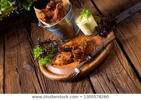 Santoreggia pollo ali forno alimentare sfondo Foto d'archivio © Dar1930