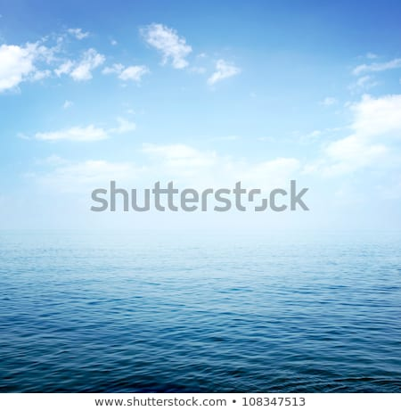 Blue sea and sky horizon with clouds Stock photo © boggy