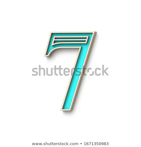 Classic old fashioned font Number 7 SEVEN 3D Stock photo © djmilic