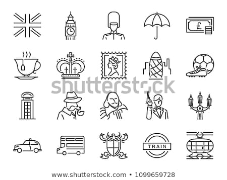 England United Kingdom Collection Icons Set Vector Stock photo © pikepicture