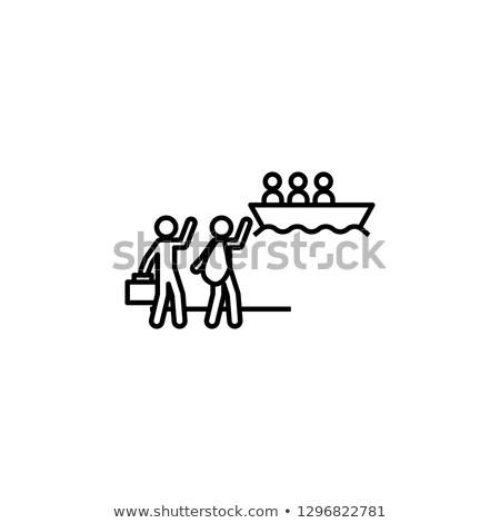 Emberi vándorlás absztrakt vektor illusztrációk nemzetközi Stock fotó © RAStudio