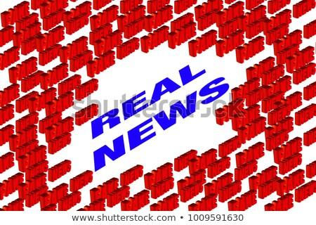 Faux réel nouvelles blanche isolé 3d illustration Photo stock © ISerg