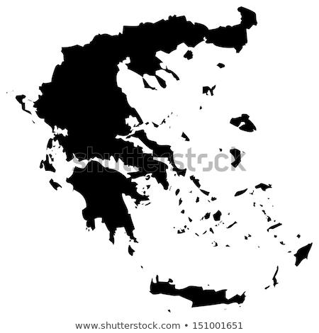 Yunanistan harita ikon vektör örnek Stok fotoğraf © pikepicture