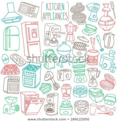 Kitchen Appliance Slow Cooker with Timer Vector Stock photo © robuart