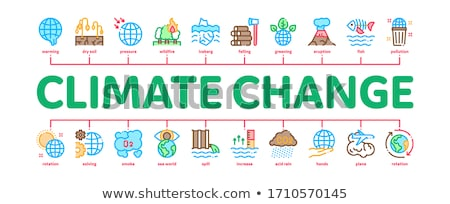 Climate Change Ecology Minimal Infographic Banner Vector Stock photo © pikepicture