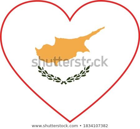 Pavillon Chypre forme coeur amour Photo stock © butenkow