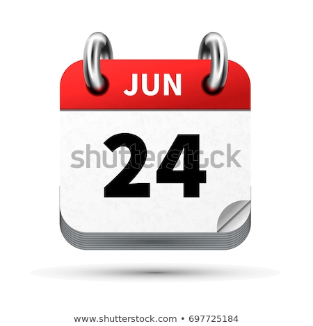 Bright realistic icon of calendar with 24 june date isolated on white Stock photo © evgeny89