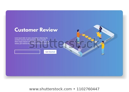 Customer review, Usability Evaluation, Feedback, Rating system concept. Vector Stock photo © natali_brill