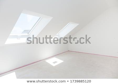 Padlás üres szoba kész rendbehoz új padló Stock fotó © brebca