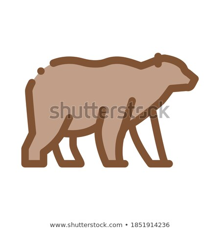 malaysian bear icon vector outline illustration Stock photo © pikepicture