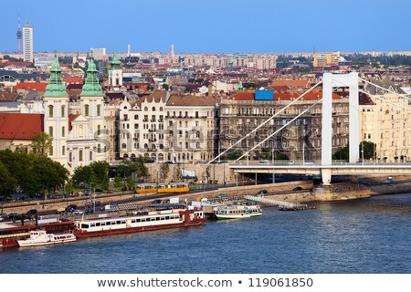 Stadsgezicht historisch stad Boedapest Hongarije mooie Stockfoto © artjazz