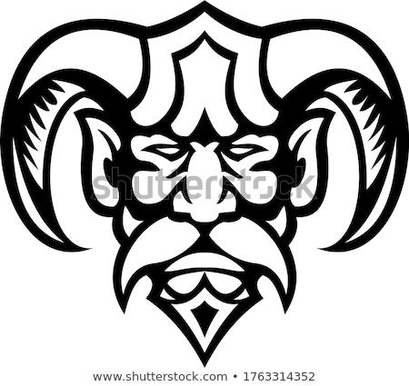 Grecki boga głowie front widoku maskotka Zdjęcia stock © patrimonio