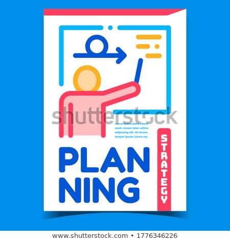 планирования стратегия Creative рекламный баннер вектора Сток-фото © pikepicture