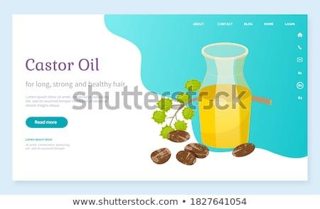 Castor Oil Jar with Essence, Cosmetics Ingredient Stock photo © robuart