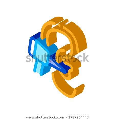 Oreille vérifier isométrique icône vecteur signe Photo stock © pikepicture
