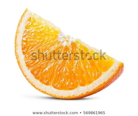 Kawałek świeże pomarańczy biały charakter owoców Zdjęcia stock © Ansonstock