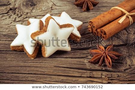 cinnamon star cookies zimtsterne stock photo © aladin66