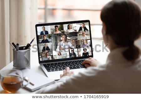 Interaktif iletişim bilgisayar teknoloji arka plan web Stok fotoğraf © leeser