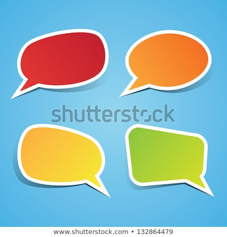 abstract yellow speech bubble isolated stock photo © smeagorl