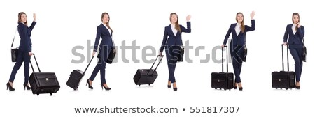A businesswoman holding a case Stock photo © photography33