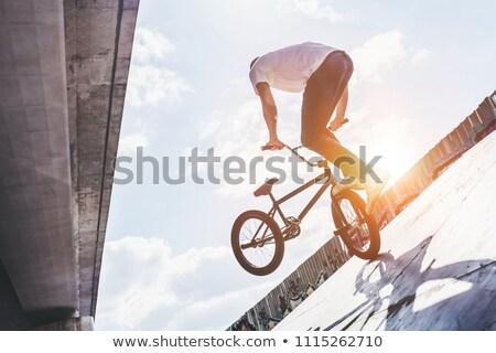 Rampa truco deporte marco moto ir Foto stock © Sportlibrary