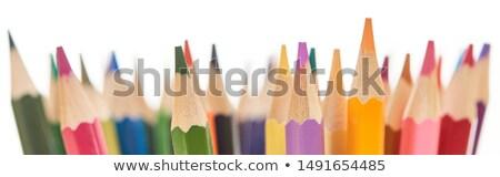 Közelkép színes ceruzák kép iroda absztrakt Stock fotó © gregory21