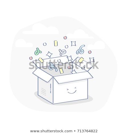naadloos · Geel · karton · vector · textuur · abstract - stockfoto © imaster